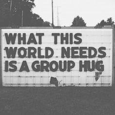 :: communitarian archetype :: girl next door regular guy everyman together group hug quotes