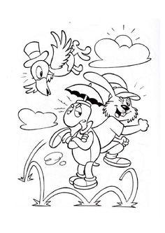 Dibujo para colorear cuentos La liebre y la tortuga