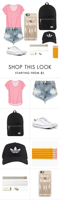"""""""School outfit """" by sriram-bharati on Polyvore featuring One Teaspoon, Herschel Supply Co., Converse, adidas, Kate Spade and Casetify"""