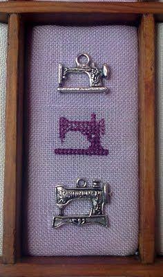 Esencia de Lavanda. Punto de cruz y otras labores: cajón de imprenta