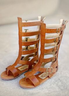These luxe gladiator sandals make this timeless trend available for even the most petite fashionista!