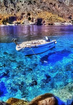 Crete, So Blue, Loutro ...this is a place that just made it to my bucket list. HA