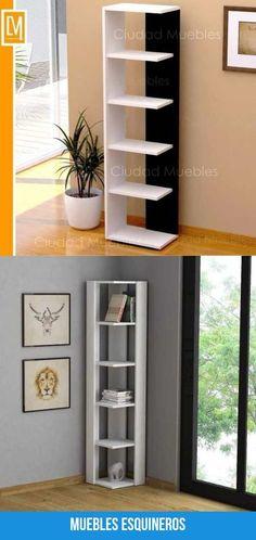 Las mejores imagenes de muebles esquineros Bookcase, Shelves, Home Decor, Modern Furniture, Home Decorations, Interiors, Shelving, Decoration Home, Room Decor