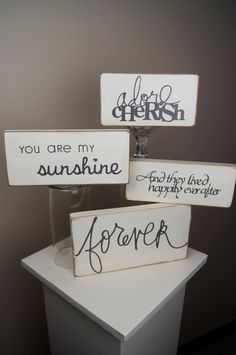 Shabby Chic Wooden Sign by ChicLittleSomethings on Etsy, $8.00