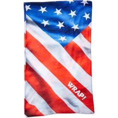 Wrap! Red, White & Blue Flag  10-in-1 Bandanna ($9.99) ❤ liked on Polyvore featuring accessories, scarves, red scarves, red shawl, red handkerchief, red bandana and red white and blue bandana