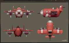 Wyld Rabbits on Behance Concept Ships, Game Concept Art, 3d Model Architecture, Cartoon Airplane, Cartoon Birds, Spaceship Design, Low Poly Models, 3d Artwork, Aircraft Design