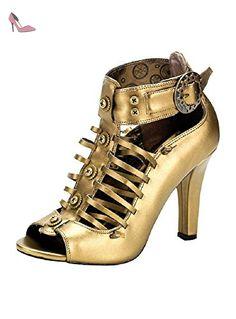 Demonia Tesla-05 - gothique Steampunk chaussures femmes 36-43, US-Damen:EU-41/42 / US-11 / UK-8 - Chaussures demonia (*Partner-Link)