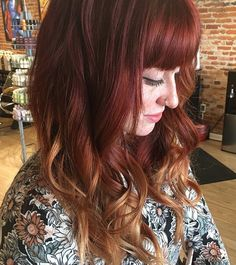 Beautiful red color melt by Kristin, Senior Stylist. #purerituals #prkristin #aveda #colormelting #redhair