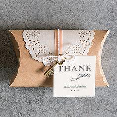 DIY Kraft Pillow Box Favor Wrapping Kit