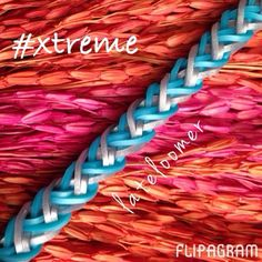 #xtreme by lateloomer in IG. Rainbow loom hook only bracelet.