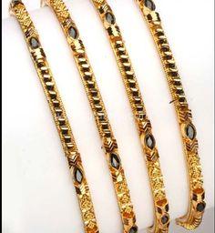 Totaram Jewelers: Buy 22 karat Gold jewelry & Diamond jewellery from India: Gold Black beeds Bangle - Set of 4 Pair). Gold Jewelry Simple, Gold Rings Jewelry, Bead Jewellery, India Jewelry, Diamond Jewellery, Gold Bangles Design, Gold Earrings Designs, Gold Designs, Jewelry Model