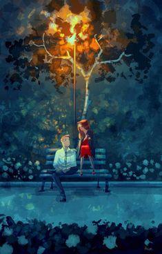 40 Romantic Digital Illustrations by Pascal Campion - Love Is All You Need. 40 Romantic Digital Illustrations by Pascal Campion - Cute Couple Drawings, Cute Couple Art, Couple Illustration, Illustration Art, Pascal Campion, Fable, Love Images, Grafik Design, Love Art