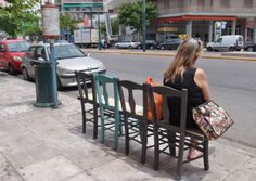Creating a Place / Pop-up Public Bench by Atenistas, Greece