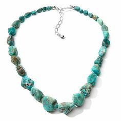 Jay King Hubei Turquoise Graduated Nugget Necklace at HSN.com