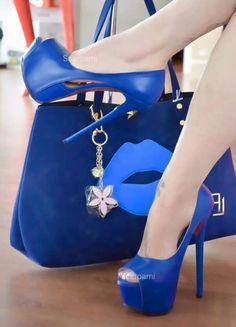 Blue High Heels, Hot High Heels, Platform High Heels, Sexy Heels, Blue Shoes, Stiletto Heels, Pretty Shoes, Beautiful Shoes, Hot Shoes