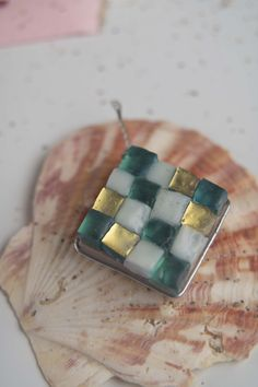 Mosaic earrings made of golden-blue and light blue glass mass tiles 2x2 cm Earrings Handmade, Tiles, Mosaic, Light Blue, Stud Earrings, Glass, Jewelry, Room Tiles, Jewlery