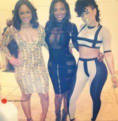 #Maliah, #BrookeBailey and #KeyshiaKaoir in #Detroit- i would love to be able to wear an outfit like keyshias