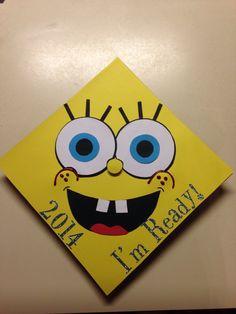 Showing my love for Spongebob on my graduation cap. I'm ready!