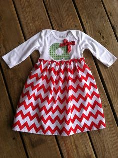 Personalized Christmas Onesie Dress on Etsy, $25.00