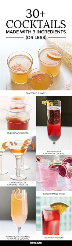 30+ Cocktails Made With 3 Ingredients (or Less)