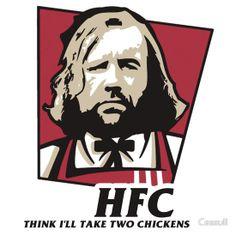 The hound KFC logo chicken parody. HFC by Cessull