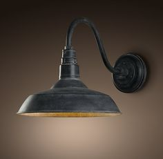 front door light option: Vintage Barn Sconce Weathered Zinc at Restoration Hardware