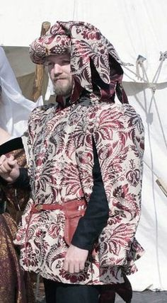 woolen doublet, silk robe and chaperon; by Prior Attire - https://www.facebook.com/pages/Prior-Attire/140313531692