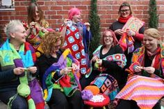 The Melbourne Yarn Bombing group organised by Bali Portman... this is their 2nd birthday in 2013 <<< <3