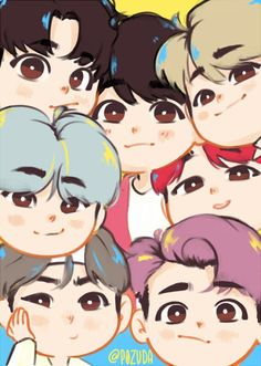 Finding them under a box, abandoned, Ahn Soo-hyun becomes BTS kids' n… Bts Chibi, Anime Chibi, Chibi Wallpaper, Cartoon Wallpaper, Namjoon, Taehyung, Bts Kawaii, Kpop Drawings, Kpop Fanart
