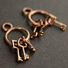 breloques trousseau de clefs en métal cuivré