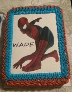 Edible Icing Sheet Decorating Spiderman