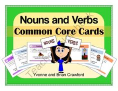 Nouns and Verbs Common Core Task Cards is a book filled with cards that you can use to create fun activities.  $