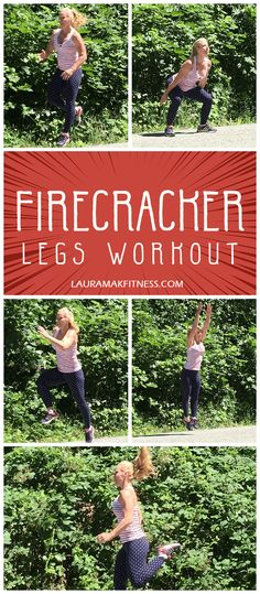 http://www.lauramakfitness.com/firecracker-leg-workout/ Gotta LOVE a great leg workout! It is always my favorite day of training, so I bring you the best too! This workout has jumps, bounding, and rebounding all built into a high calorie burn