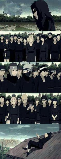One of the saddest moments in Naruto where I cried an ocean out. Specially that part where konohamaru looks at Naruto and he's is just standing there looking ahead with a devotion in his eyes that he'd avenge Asuma's death and beat the hell outta akatsuki Gaara, Naruto Uzumaki, Anime Naruto, Kakashi Itachi, Naruto Sad, Sarada Uchiha, Shikamaru, Sad Anime, Manga Anime