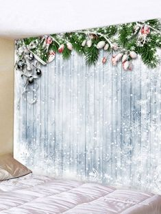 Christmas Snowflake Wooden Printed Tapestry They are beautiful, lovable and affordable. You deserve it! The Grinch, Kitsch, Christmas Cubicle Decorations, Church Decorations, Christmas Tree With Gifts, Christmas Décor, Christmas Staircase, Christmas Ideas, Christmas Material