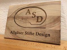 Allgäuer Stifte #Design - #Holzschild gelasert