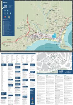 Calp tourist attractions map Maps Pinterest Spain and City
