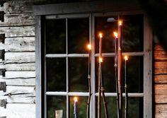 Betoniset kynttilänjalat tuovat tunnelmaa verannalle. Katso Meidän Mökin ohjeet ja vala betonista kaunis kynttelikkö!