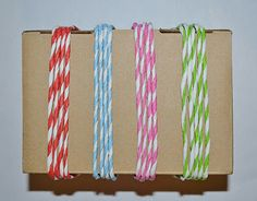 Make your own faux baker's twine using crepe paper streamers and a power drill