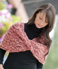 crochet pattern - jewel moebius wrap