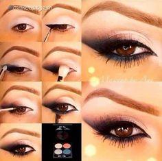 Paleta de maquillaje para ojos marrones