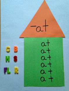 Some fun ways to teach word families.