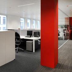 Open space into the offices of Atradius in Brussel, Belgium