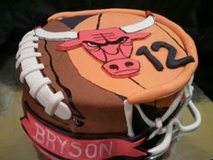 Made by LaKeisha Keck with Sweet Tooth Mother and Daughter cakes.  Football and basketball with the Chicago Bulls cake.