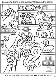 Crafts,Actvities and Worksheets for Preschool,Toddler and Kindergarten.Lots of worksheets and coloring pages. Numbers Preschool, Math Numbers, Preschool Worksheets, Kindergarten Math, Preschool Activities, Preschool Teachers, Hidden Pictures, Number Worksheets, Counting Activities