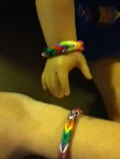 American Girl Doll. Friendship Rainbow Loom braclets for  Girls ad There Loved Dolls