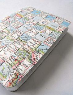Oude kaarten hergebruiken #DIY #landkaarten #atlassen