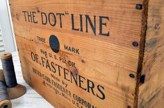 Your place to buy and sell all things handmade - Wood Crates Shipping Wood Crate Shelves, Wooden Crate Boxes, Crate Desk, Old Crates, Crate Crafts, Shipping Crates, Dotted Line, Time Shop, Antique Items