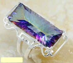Queen Mystic Fire Topaz Sterling Silver Ring