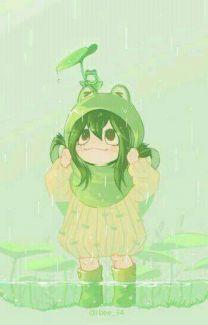My Hero Academia - Asui Tsuyu My Hero Academia Tsuyu, My Hero Academia Manga, Boku No Hero Academia, Cute Anime Character, Character Art, Character Design, Chibi Anime, Kawaii Anime, Cute Little Drawings